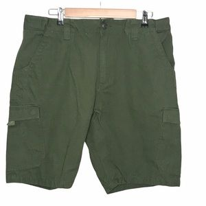 Guide Gear olive green cargo shorts hike camp